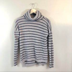 Madewell Wool-Blend Striped Turtleneck